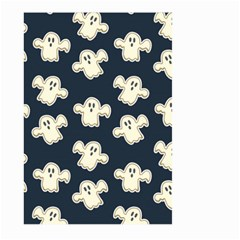 Hand Drawn Ghost Pattern Large Garden Flag (two Sides)