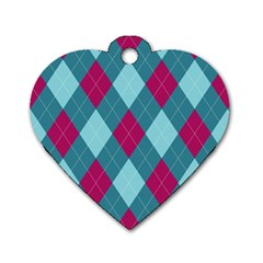 Argyle Pattern Seamless Fabric Texture Background Classic Argill Ornament Dog Tag Heart (two Sides) by BangZart