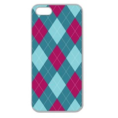 Argyle Pattern Seamless Fabric Texture Background Classic Argill Ornament Apple Seamless Iphone 5 Case (clear)
