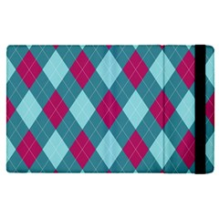 Argyle Pattern Seamless Fabric Texture Background Classic Argill Ornament Apple Ipad Pro 9 7   Flip Case