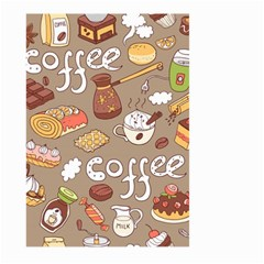Vector Seamless Pattern With Doodle Coffee Equipment Large Garden Flag (two Sides)