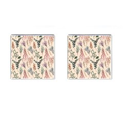 Watercolor Floral Seamless Pattern Cufflinks (square) by BangZart
