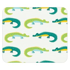 Cute Cartoon Alligator Kids Seamless Pattern With Green Nahd Drawn Crocodiles Double Sided Flano Blanket (small)  by BangZart