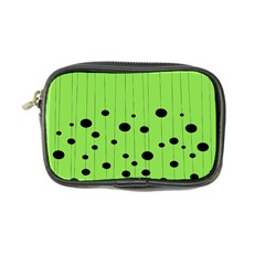 Bubbles At Strings Lemon Green And Black, Geometrical Pattern Coin Purse