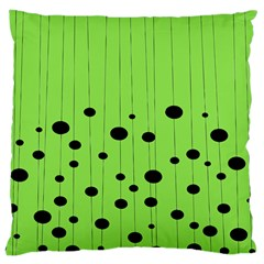 Bubbles At Strings Lemon Green And Black, Geometrical Pattern Large Cushion Case (one Side)