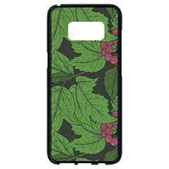 Seamless Pattern With Hand Drawn Guelder Rose Branches Samsung Galaxy S8 Black Seamless Case