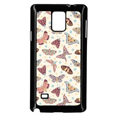 Pattern With Butterflies Moths Samsung Galaxy Note 4 Case (black) by BangZart