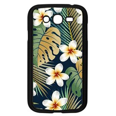 Seamless Pattern With Tropical Flowers Leaves Exotic Background Samsung Galaxy Grand Duos I9082 Case (black)