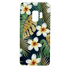Seamless Pattern With Tropical Flowers Leaves Exotic Background Samsung Galaxy S9 Tpu Uv Case by BangZart