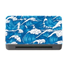 Storm Waves Seamless Pattern Raging Ocean Water Sea Wave Vintage Japanese Storms Print Illustration Memory Card Reader With Cf