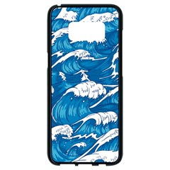 Storm Waves Seamless Pattern Raging Ocean Water Sea Wave Vintage Japanese Storms Print Illustration Samsung Galaxy S8 Black Seamless Case