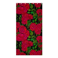 Seamless Pattern With Colorful Bush Roses Shower Curtain 36  X 72  (stall)