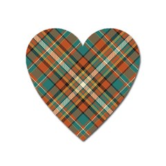 Tartan Scotland Seamless Plaid Pattern Vector Retro Background Fabric Vintage Check Color Square Heart Magnet by BangZart