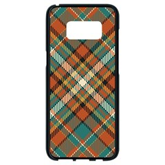 Tartan Scotland Seamless Plaid Pattern Vector Retro Background Fabric Vintage Check Color Square Samsung Galaxy S8 Black Seamless Case