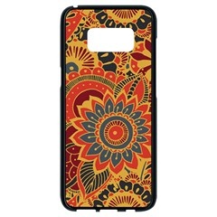 Bright Seamless Pattern With Paisley Elements Hand Drawn Wallpaper With Floral Traditional Samsung Galaxy S8 Black Seamless Case