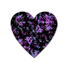 Abstract Intricate Texture Print Heart Magnet by dflcprintsclothing