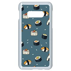 Sushi Pattern Samsung Galaxy S10e Seamless Case (white)