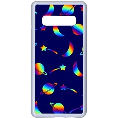 Space Pattern Colourful Samsung Galaxy S10 Plus Seamless Case(white)
