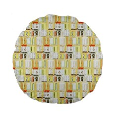 Abstract Pattern Standard 15  Premium Flano Round Cushions by Bejoart