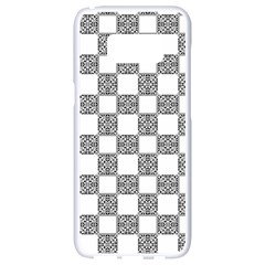Seamless Tile Derivative Pattern Samsung Galaxy S8 White Seamless Case