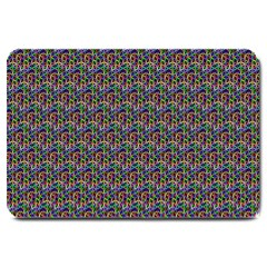 Seamless Prismatic Geometric Pattern With Background Large Doormat  by Bejoart