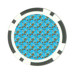 Clown Ghost Pattern Blue Poker Chip Card Guard (10 Pack)
