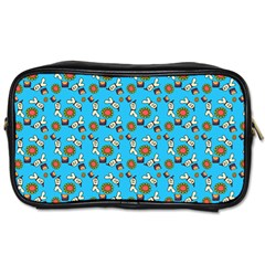 Clown Ghost Pattern Blue Toiletries Bag (two Sides)