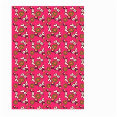 Clown Ghost Pattern Pink Large Garden Flag (two Sides)