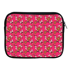 Clown Ghost Pattern Pink Apple Ipad 2/3/4 Zipper Cases by snowwhitegirl