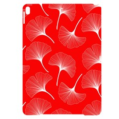 White Abstract Flowers On Red Apple Ipad Pro 10 5   Black Uv Print Case