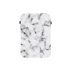 White Faux Marble Texture  Apple Ipad Mini Protective Soft Cases