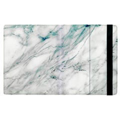 Gray Faux Marble Blue Accent Apple Ipad Pro 12 9   Flip Case
