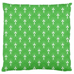 Green And White Art-deco Pattern Standard Flano Cushion Case (one Side) by Dushan