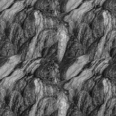Black And White Rocky Texture Pattern Magic Photo Cube