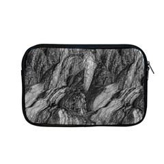 Black And White Rocky Texture Pattern Apple Macbook Pro 13  Zipper Case