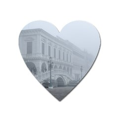 Fog Winter Scene Venice, Italy Heart Magnet by dflcprintsclothing