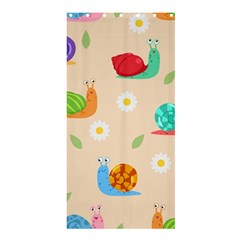 Seamless Pattern Cute Snail With Flower Leaf Shower Curtain 36  X 72  (stall)