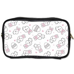 Cute Pattern With Easter Bunny Egg Toiletries Bag (one Side)