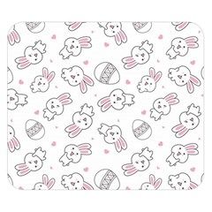 Cute Pattern With Easter Bunny Egg Double Sided Flano Blanket (small)