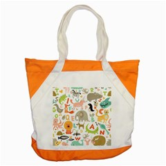 Children Alphabet Seamless Pattern Accent Tote Bag by Bejoart
