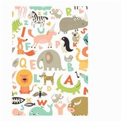 Children Alphabet Seamless Pattern Small Garden Flag (two Sides)