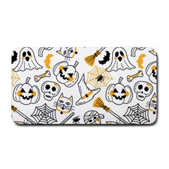 Funny Hand Drawn Halloween Pattern Medium Bar Mats by Bejoart