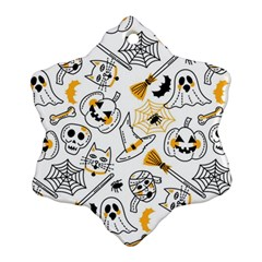 Funny Hand Drawn Halloween Pattern Ornament (snowflake)