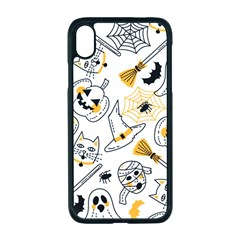 Funny Hand Drawn Halloween Pattern Iphone Xr Seamless Case (black)