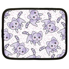 Cats Pattern Design Netbook Case (xl) by Bejoart