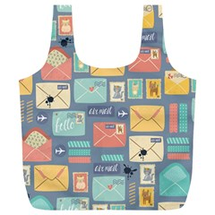 Pattern Postal Stationery Full Print Recycle Bag (xl)