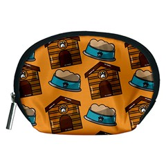 Pet House Bowl Food Seamless Pattern Accessory Pouch (medium)