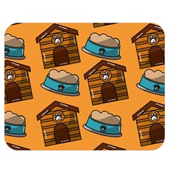 Pet House Bowl Food Seamless Pattern Double Sided Flano Blanket (medium)