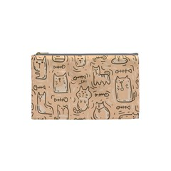 Cat Background Cosmetic Bag (small)