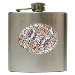 Rounded Stones Print Motif Hip Flask (6 Oz) by dflcprintsclothing